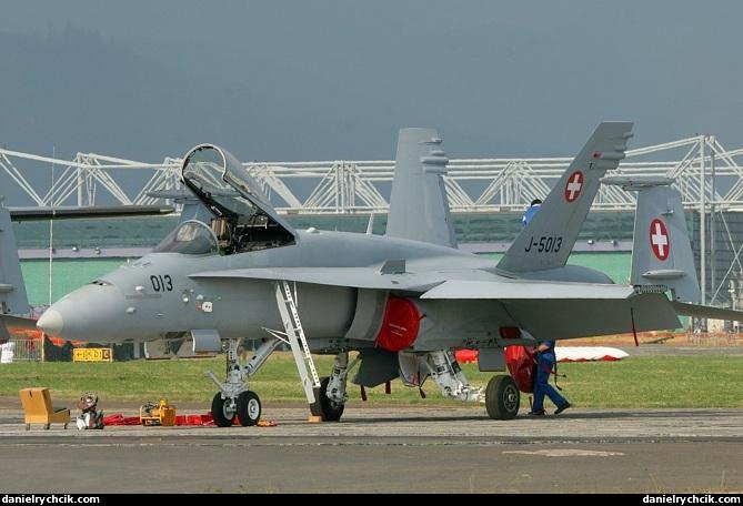 Airpower 05 F A 18c Hornet Swiss Air Force