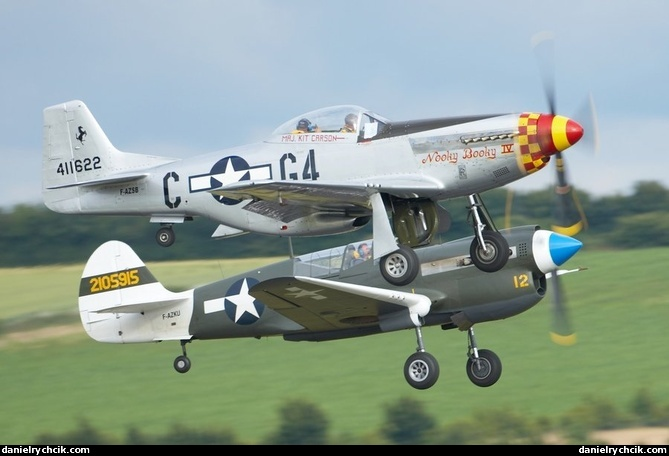 Duxford 2008 Curtis P 40 Kittyhawk And P 51 Mustang